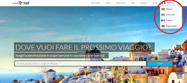 Sito multimercato Evolution Travel